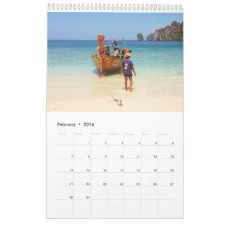 Backpackers around the world calendar