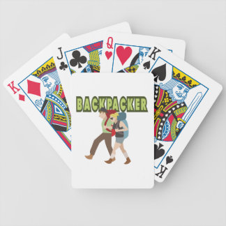 Backpackers Bicycle Playing Cards