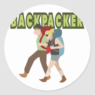 Backpackers Classic Round Sticker