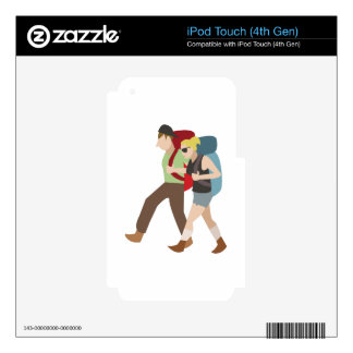 Backpackers Decal For iPod Touch 4G