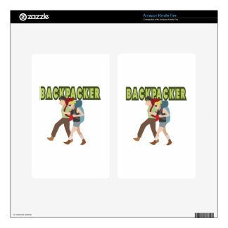 Backpackers Decal For Kindle Fire