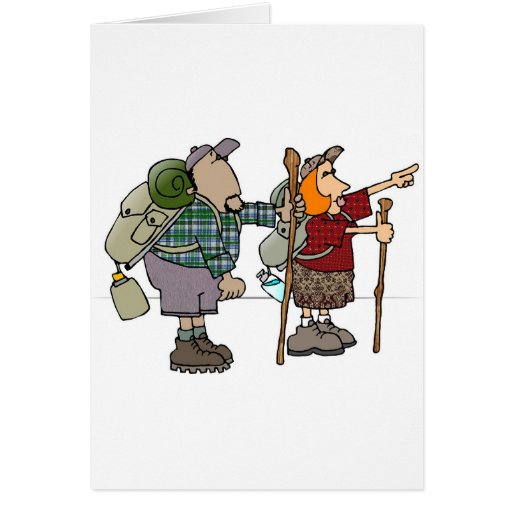 Backpackers Greeting Card