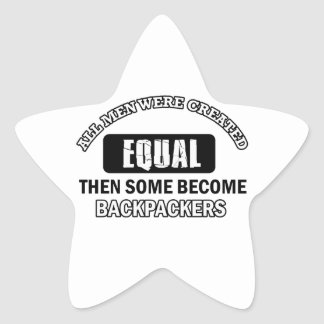 Backpackers hobby designs star sticker