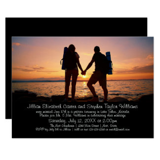 Backpackers Photo - Wedding Announcement