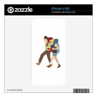Backpackers Skin For The iPhone 4S