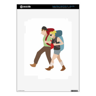 Backpackers Skins For iPad 3