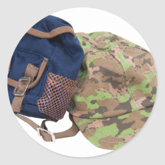 BackpackHat062509 Classic Round Sticker