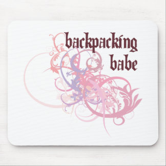 Backpacking Babe Mouse Pad