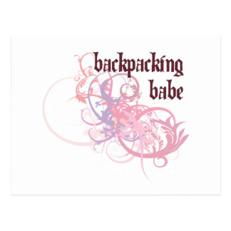 Backpacking Babe Postcard