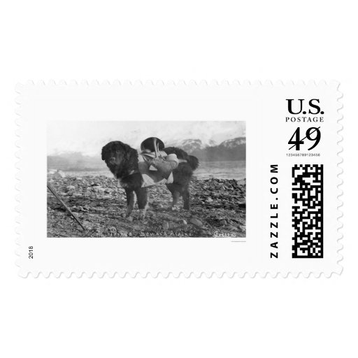 Backpacking Dog Seward, Alaska 1911 Stamps