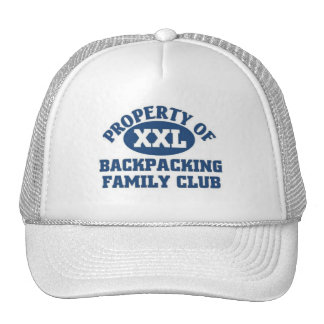 Backpacking Family Club Mesh Hats