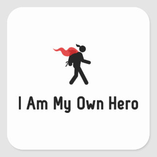 Backpacking Hero Square Sticker