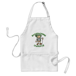 Backpacking Junkie - Guy Adult Apron