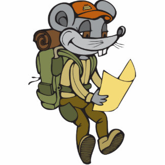 Backpacking Mouse Acrylic Cut Outs