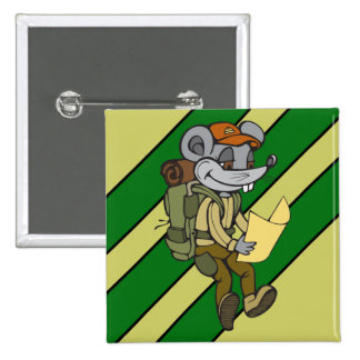 Backpacking Mouse Pinback Button