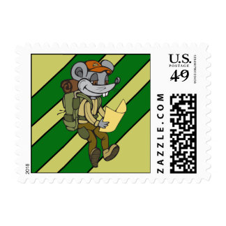 Backpacking Mouse Stamp