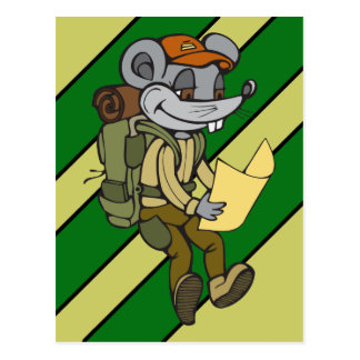 Backpacking Mouse Postcard