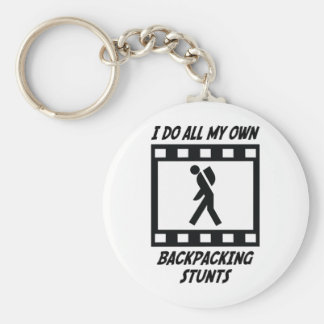 Backpacking Stunts Basic Round Button Keychain