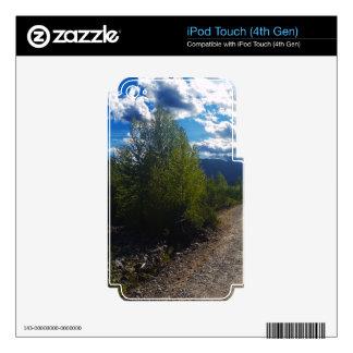 Backroad al Parque Nacional Glacier del lago iPod Touch 4G Calcomanía