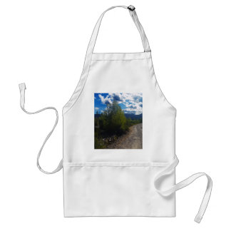 Backroad to Bowman lake Glacier National Park Adult Apron