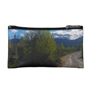 Backroad to Bowman lake Glacier National Park Makeup Bag