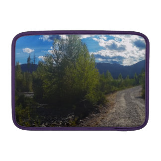 Backroad to Bowman lake Glacier National Park Sleeve For MacBook Air