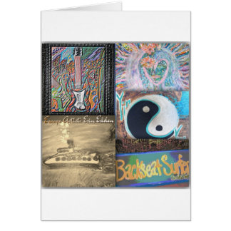 Backseat Surfers Art Greeting Cards