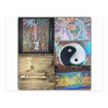 Backseat Surfers Art Post Cards