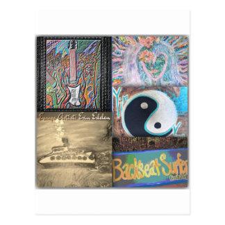 Backseat Surfers Art Post Card