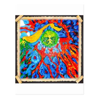 Backseat Surfers Art Postcard