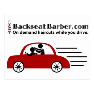 BackseatBarber.com Postales