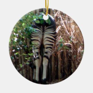 Backside of Okapi Ceramic Ornament