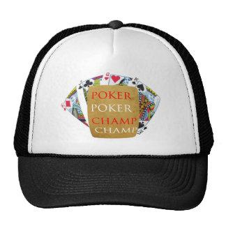 Backside Print - POKER PlayingCard Champion Trucker Hat