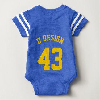Backside Royal Blue & Yellow Baby | Sports Jersey Shirt
