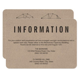 BACKSIDE with trendy Geometric heart info card
