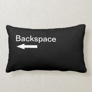 Backspace Computer Key (Black) Throw Pillow