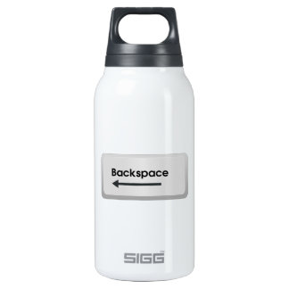 Backspace Computer Key Insulated Water Bottle