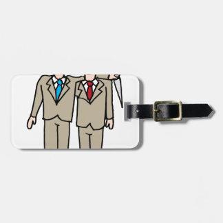 Backstabbing businessman tag for luggage