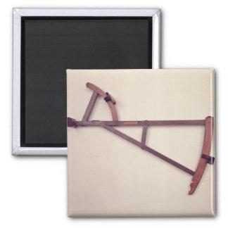 Backstaff, 18th century 2 inch square magnet