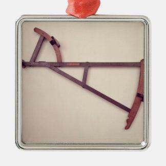 Backstaff, siglo XVIII Adorno Cuadrado Plateado