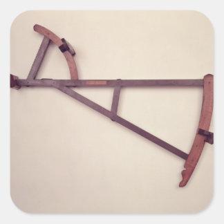 Backstaff, siglo XVIII Pegatina Cuadrada