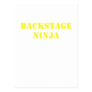 Backstage Ninja Postcard