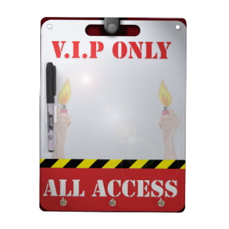 Backstage Pass Dry Erase Board