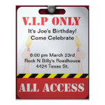 Backstage Pass Party Personalized Invitations