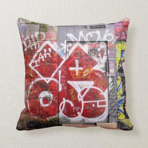 Backstreet Alley Graffiti Pillow
