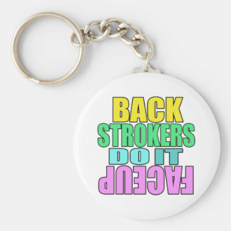 Backstrokers do it face up basic round button keychain