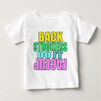 Backstrokers do it face up Light shirt