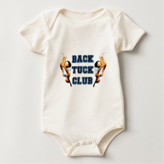 Backtuck club baby bodysuit