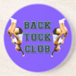 Backtuck club drink coaster