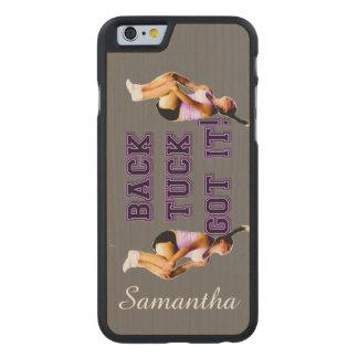 Backtuck got it gymnastics carved maple iPhone 6 slim case